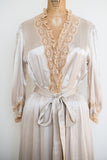 1940s Candlelight Satin Dressing Gown - S