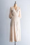 Vintage Silk Light Peach Wrap Dress/Robe - M