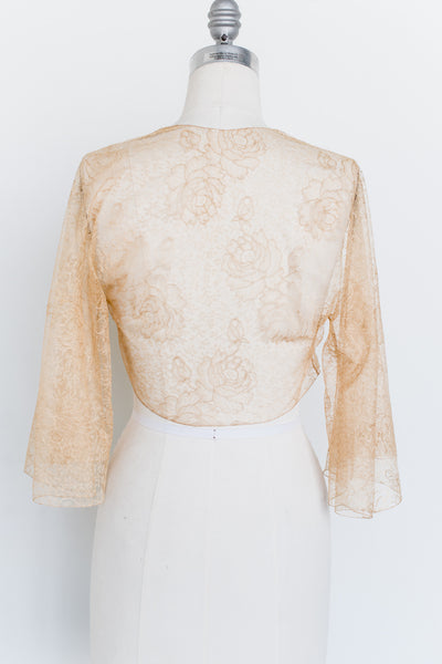 1930s Silk Lace Top - S/M