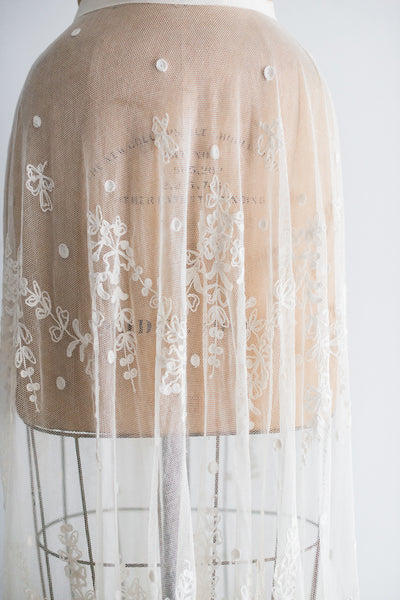 Edwardiam Tambour Lace Skirt - S