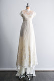 [SOLD] 1960's Lace Embroidered Bodice Gown - S