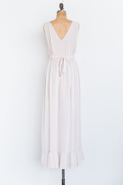1930s Sheer Light Lavender Silk Chiffon Gown - M