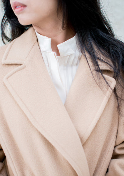 1970s Camel Wool Coat - M