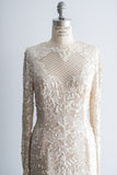 [SOLD] 1980's Silk Beaded Long Sleeves Dress - M