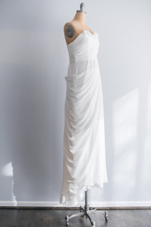 Draped Pleated Bodice Gown - S