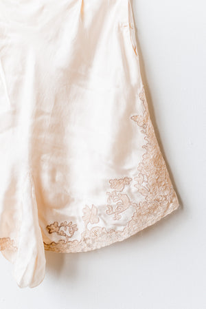 1920s Ivory Silk Lace Tap Pants - M