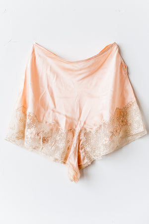 1920s Peach Silk Lace Tap Pants - M/L