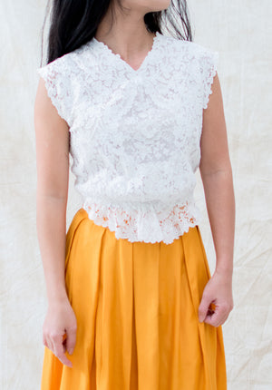 Antique Duchesse Lace Top - XS/S