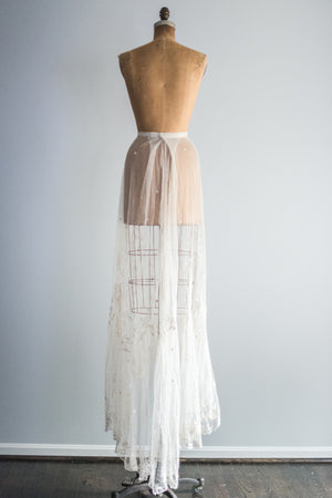 Ivory Edwardian Lace Skirt - S