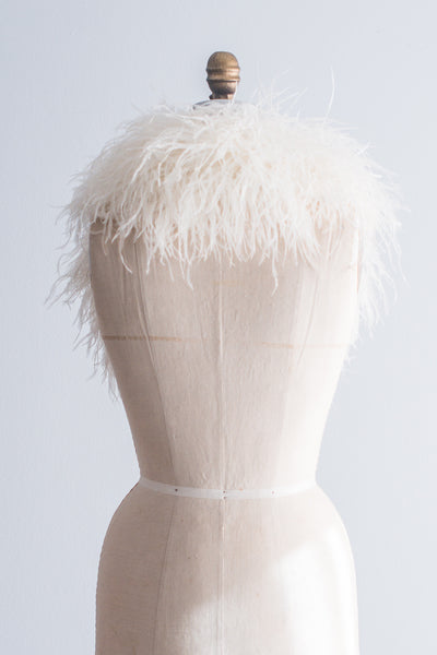 1950s Ostrich Feather Stole