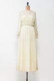1970s Light Green Chiffon Dress - S/M