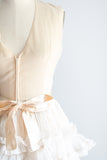 [SOLD] 1970's Christian Dior Ruffled Silk Dress - S/M