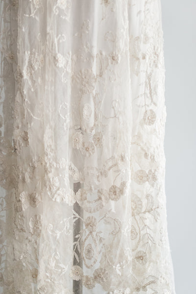 Edwardian Princess Duchesse Lace Skirt - S