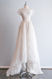 RESERVED 1950's Silk Organza Lace Beaded Wedding Gown - XS/S