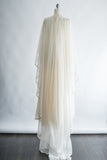 1970s Embroidered Cape Wedding Gown - S/M