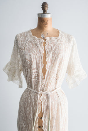 Valenciennes Lace Dressing Gown - One Size