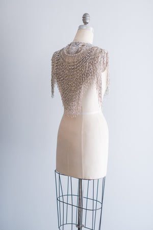 Vintage Beaded Bolero - One Size