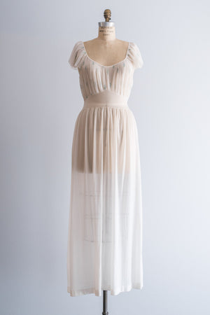 1950s Sheer Slip Dress - M