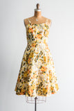 1950s Acetate Summer Floral Dress - S