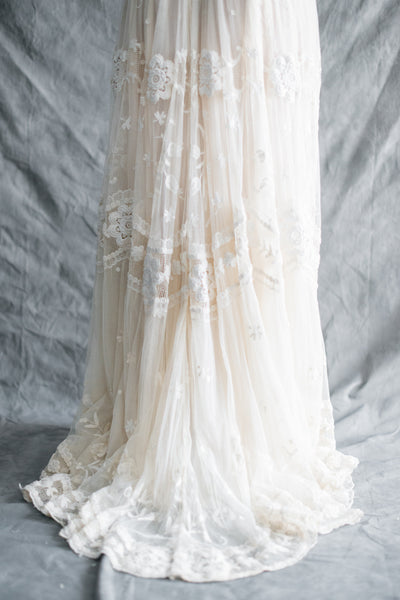 Edwardian Embroidered Lace Gown - S/M