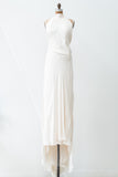 RENTAL Silk Chiffon Halter Backless Gown - S