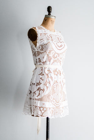 1970s Crochet Mini-Dress - M