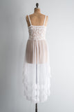 Vintage Ivory/White Lace Negligee - M/L