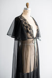 1960s Nylon Chiffon Dressing Gown - One Size