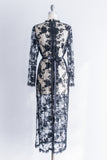 1960s Sheer Lace Beaded Mod Dress - M/L