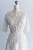 Edwardian Pin-Tucked Lawn Dress - M