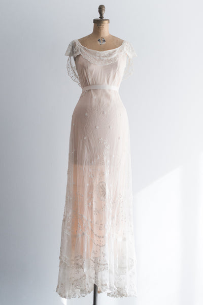 1900s Belle Epoque Lace Gown - S/M