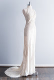Silk Vera Wang Chiffon Halter Dress with Train - XS/S