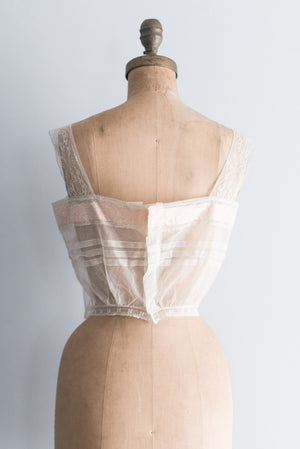 Antique Tulle and Silk Cami - S/M