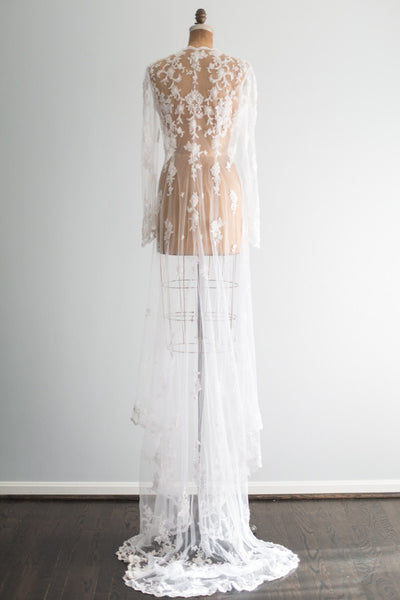 Beaded Embroidered Robe Gown - M