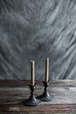 Pair of Antique Pewter Candlestick Holders