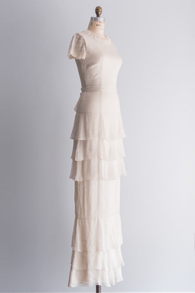 Silk J Mendel Tiered Gown - S/M