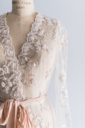 Lace Embroidered Robe - M/L