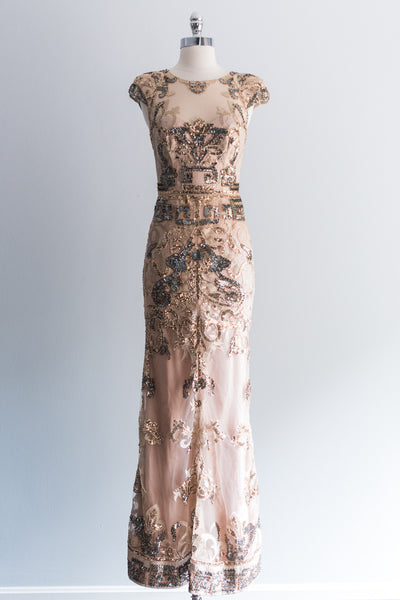 Silk and Net Beaded Gown - S/US4