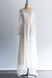 RESERVED French Silk Lace Wedding Gown - L