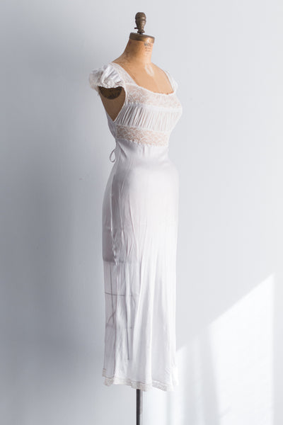 1930s Satin and Chiffon Slip - XS