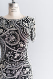 1980's Abstract Beaded Baroque Dress - S/M