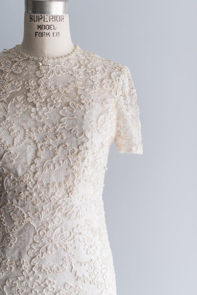 1960s Corded Lace Gown - M