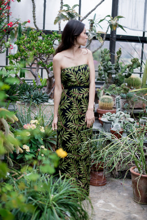 1980s Beaded Leaf Dress - S