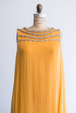 1960s Marigold Chiffon Gown - S