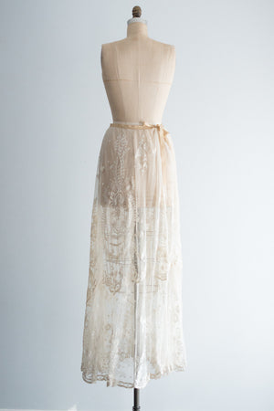 White Edwardian Tambour Skirt - XS/S