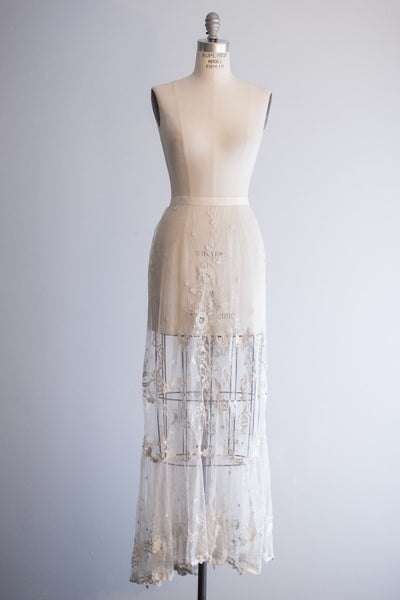 Edwardian Lace Skirt - S
