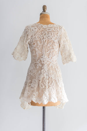 [SOLD] Antique Re-embroidered Lace Jacket