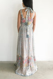 1970s Cotton Floral Dress - M
