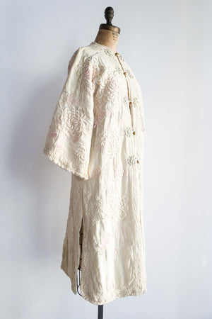 1910s Heavily Embroidered Robe - One Size