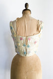 1960s Yellow Beaded Cropped Bodice - XS/S